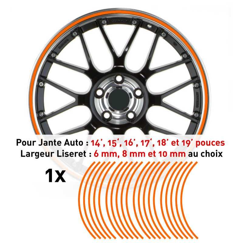 Decal Car Wheel Rim Orange