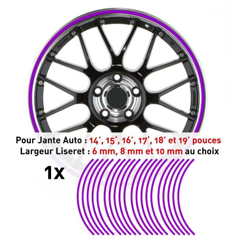 Decal Car Wheel Rim PlumPrune