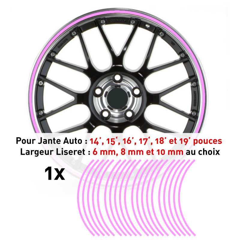 Decal Car Wheel Rim Pink