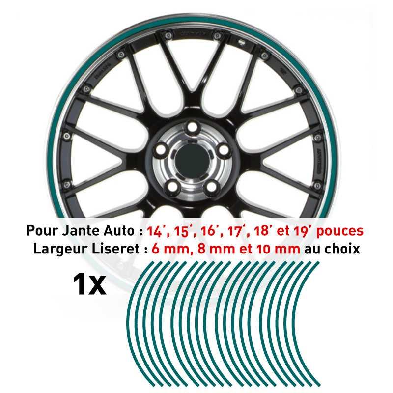 Sticker Liseret Jante Auto Turquoise
