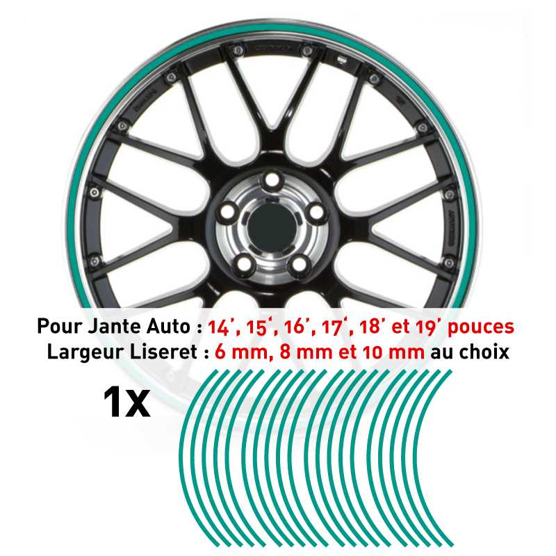 Decal Car Wheel Rim Mint green