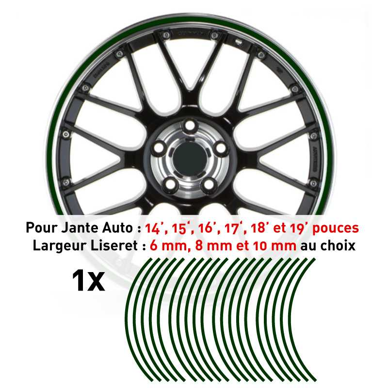 Decal Car Wheel Rim Pine green