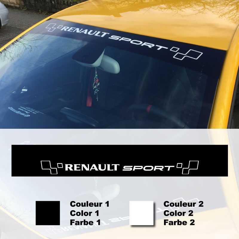 sticker bandeau pare soleil voiture renault sport adh sif pour pare soleil voiture. Black Bedroom Furniture Sets. Home Design Ideas