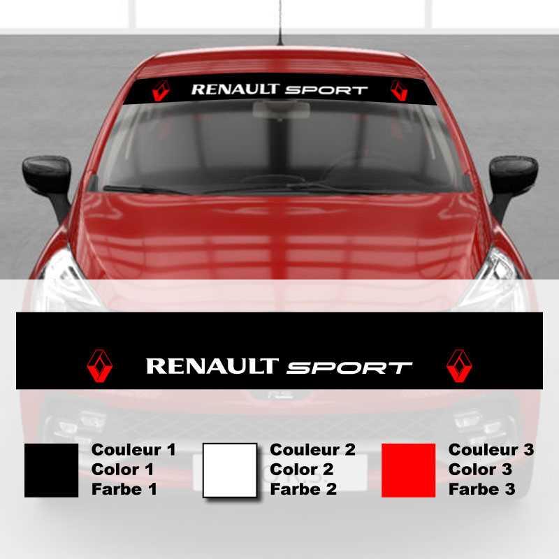 sticker bandeau pare soleil voiture renault sport tricolor. Black Bedroom Furniture Sets. Home Design Ideas