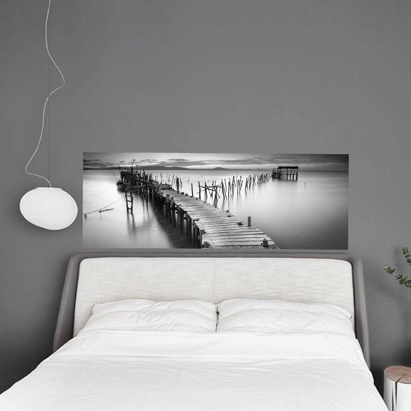 sticker t te de lit jet e bord de mer. Black Bedroom Furniture Sets. Home Design Ideas