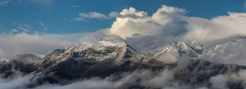 Decal Tête de Lit Montagne Neige