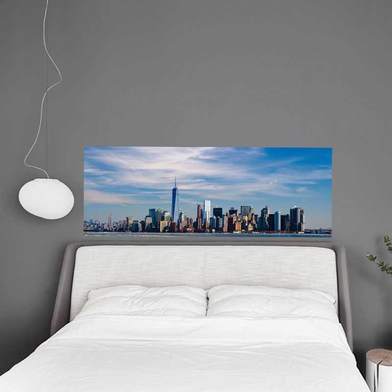 sticker t te de lit new york. Black Bedroom Furniture Sets. Home Design Ideas