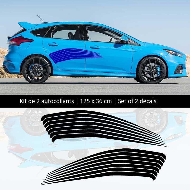 Kit Aufkleber Stickers Bande Seitenleiste Ford Focus Line
