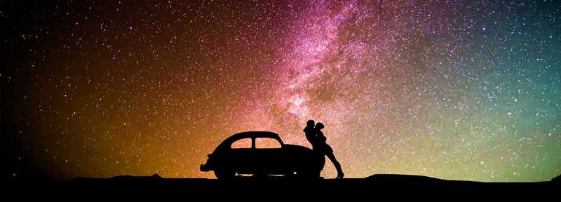 Headboard Decal Car Couple of Lovers