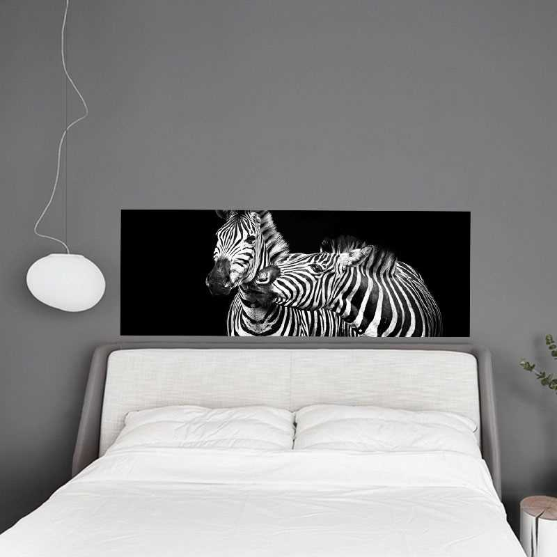 sticker t te de lit z bres amoureux. Black Bedroom Furniture Sets. Home Design Ideas