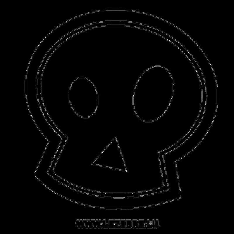 Stencil Tête de Mort Emo