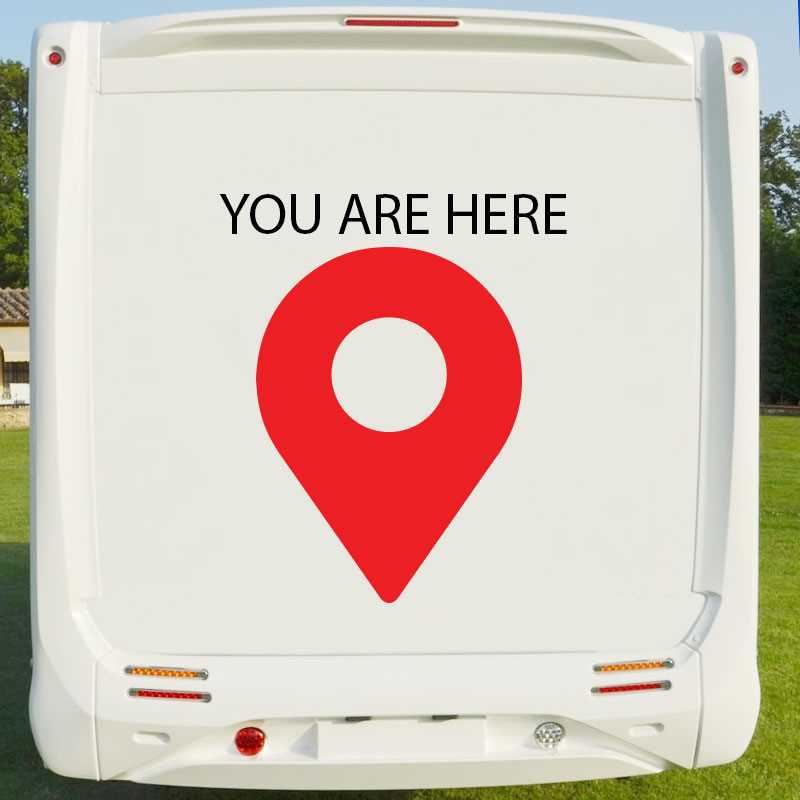 Camping Car You Are Here Decal