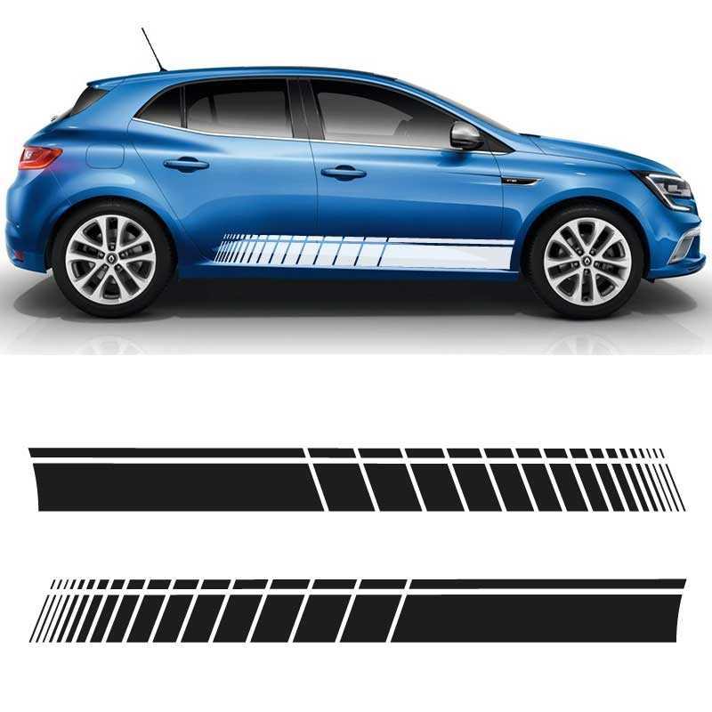 Kit Stickers Bandes Bas de Caisse Renault Megane Speed Line