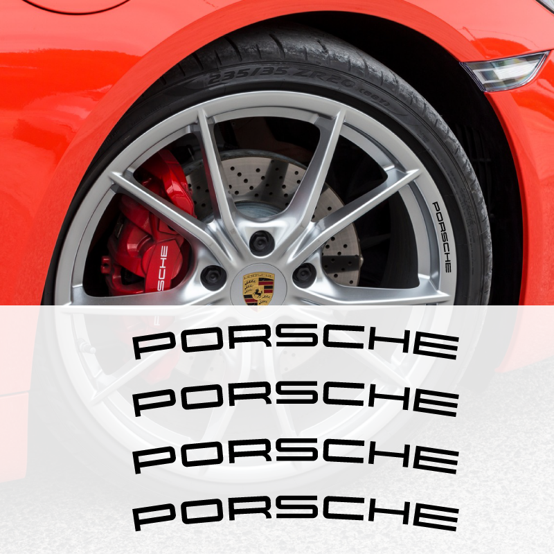 Porsche Wheels Decals Set