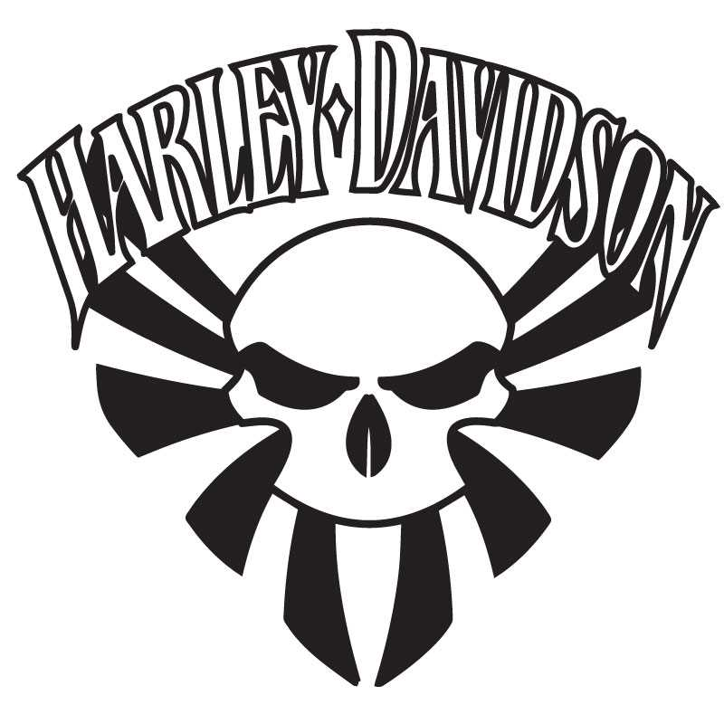 Harley Davidson Skull Decal Flag Japan