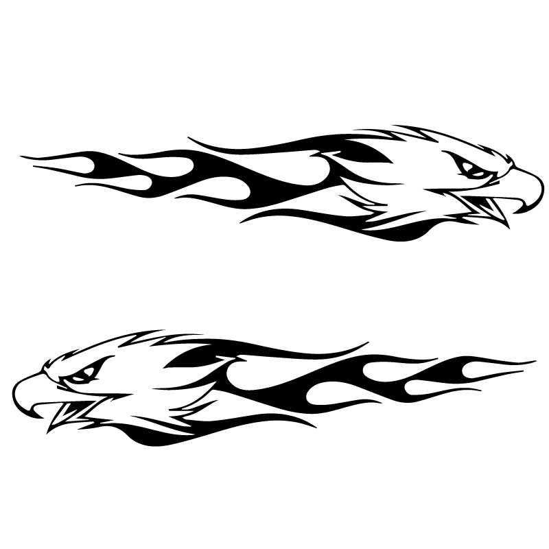 Kit de 2 Stickers Harley Davidson Eagle Flammes ★