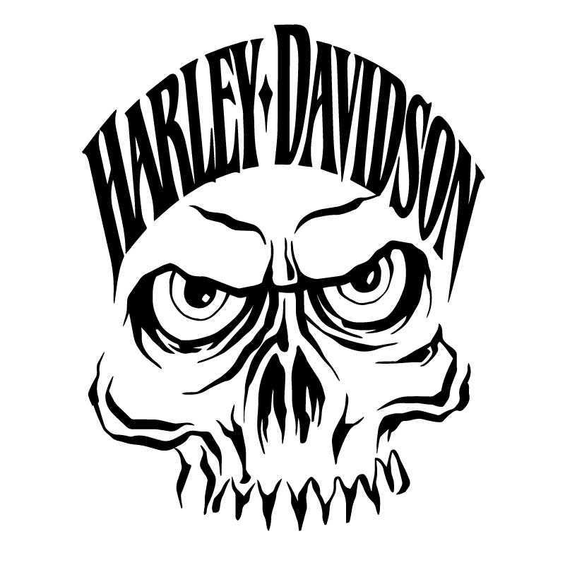 Sticker Decal Harley Davidson Monster Skull