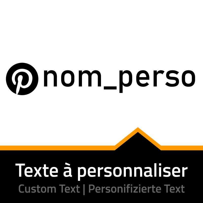 Pinterest Name Custom Decal