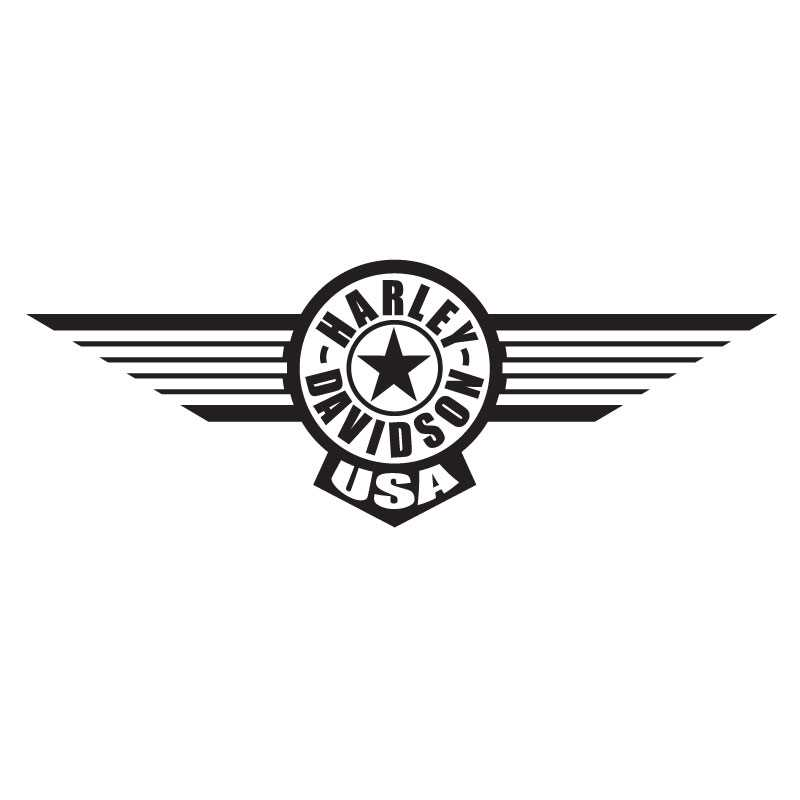 Harley Davidson USA Wings Decal