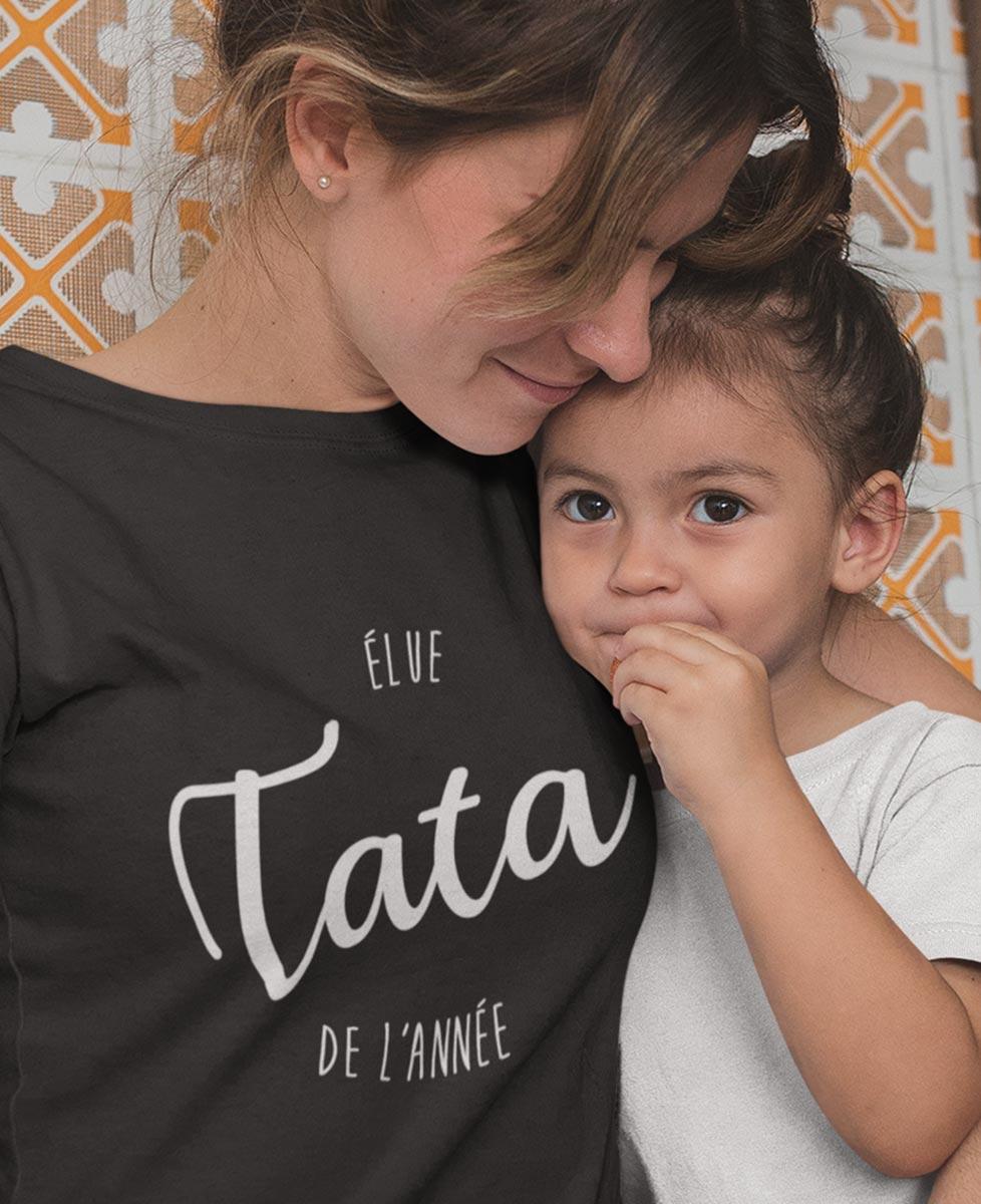 Tee-shirt Élue Tata de l'Année