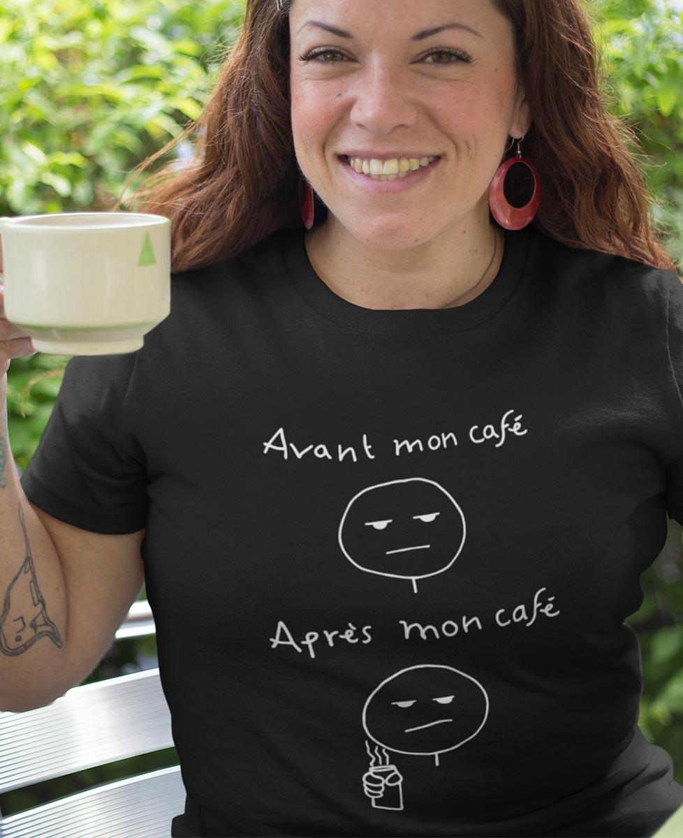 Tee-shirt Avant et Après Mon Café