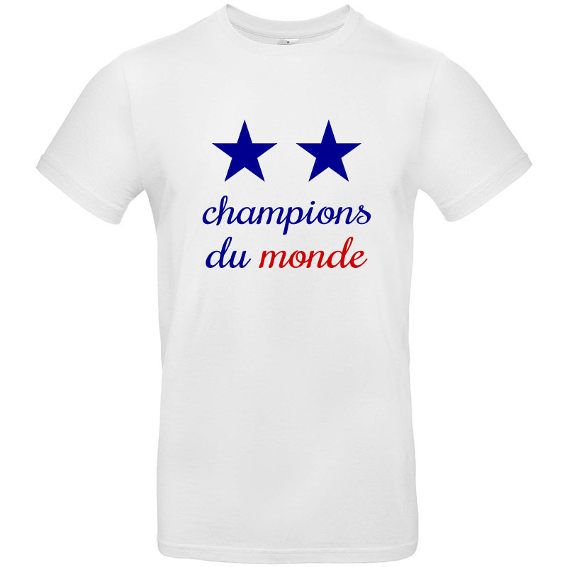 tee shirt france champions du monde 2 etoiles. Black Bedroom Furniture Sets. Home Design Ideas