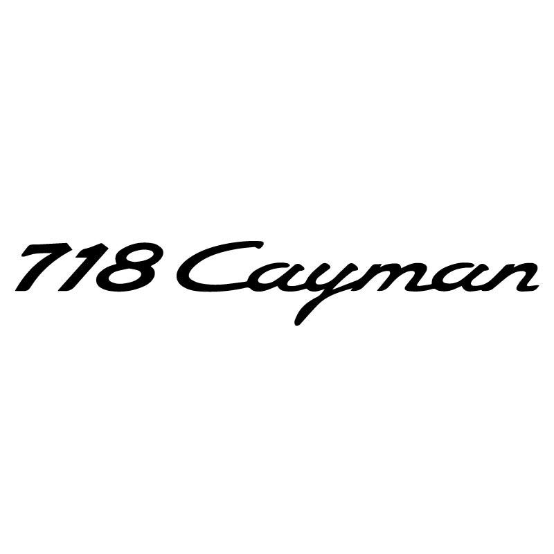 Porsche 718 Cayman Decal