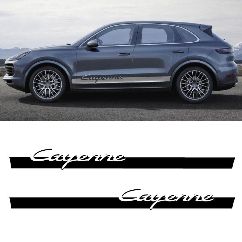 Kit Stickers Bandes Bas de Caisse Porsche Cayenne