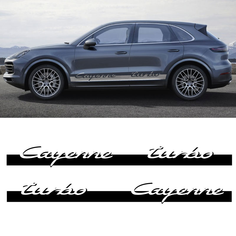Kit Stickers Bandes Bas de Caisse Porsche Cayenne Turbo