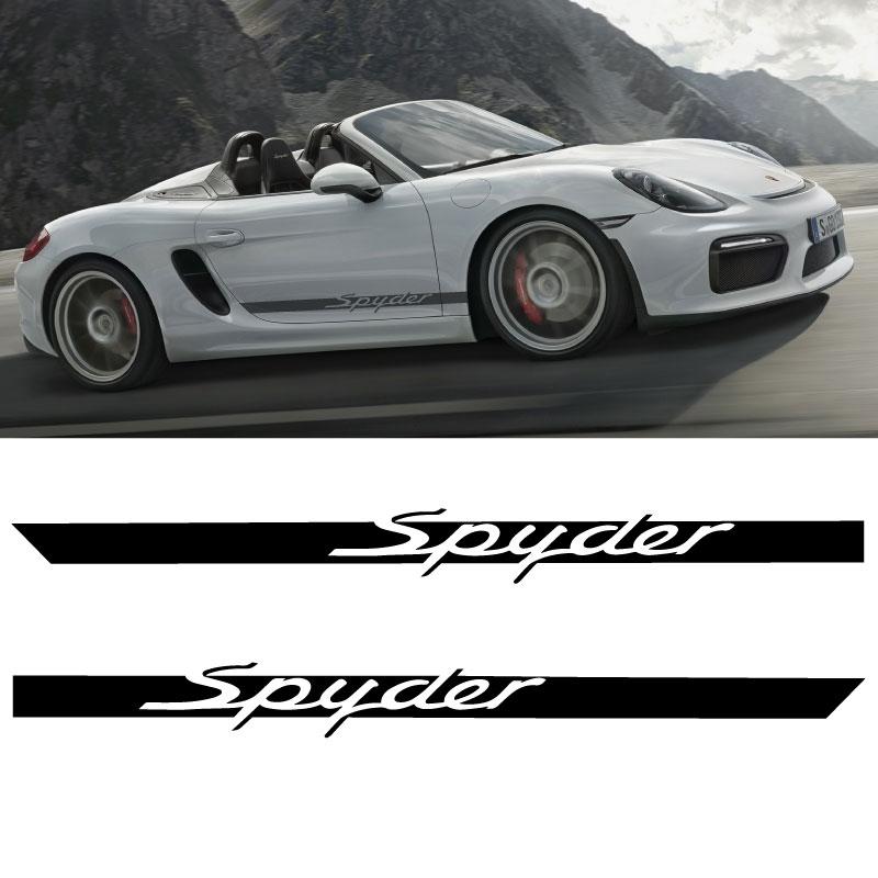 Kit Stickers Bandes Bas de Caisse Porsche Boxster Spyder