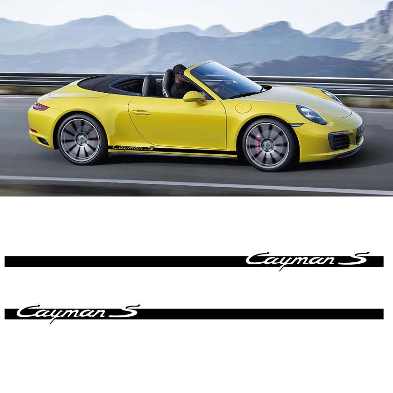 Car Side Stripes Decals Set Porsche Cayman S