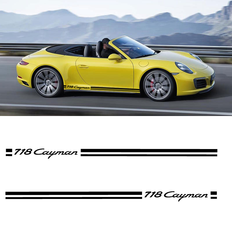 Car Side Stripes Decals Set Porsche 718 Cayman