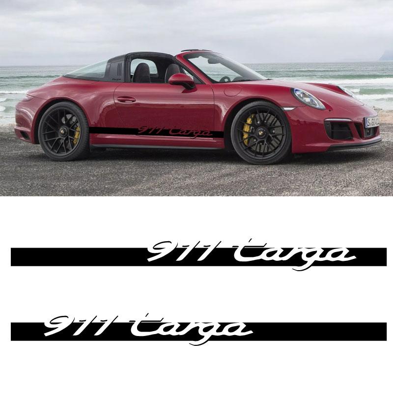 Car Side Stripes Decals Set Porsche 911 Porsche Targa