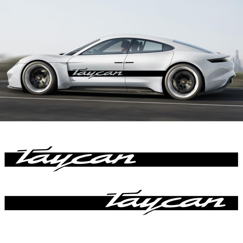 Car Side Stripes Decals Set Porsche Taycan