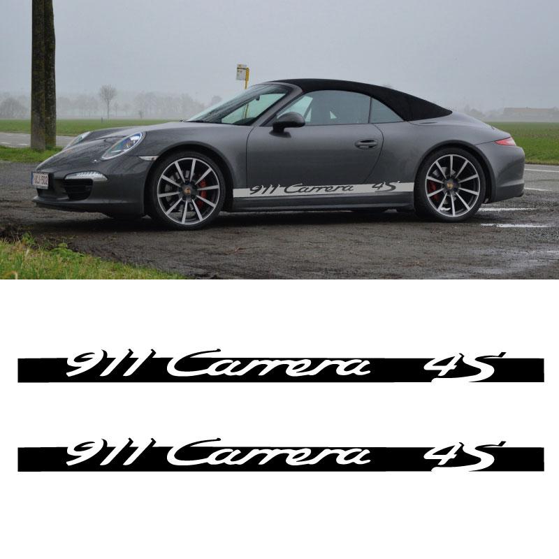 Car Side Stripes Decals Set Porsche 911 Carrera 4S
