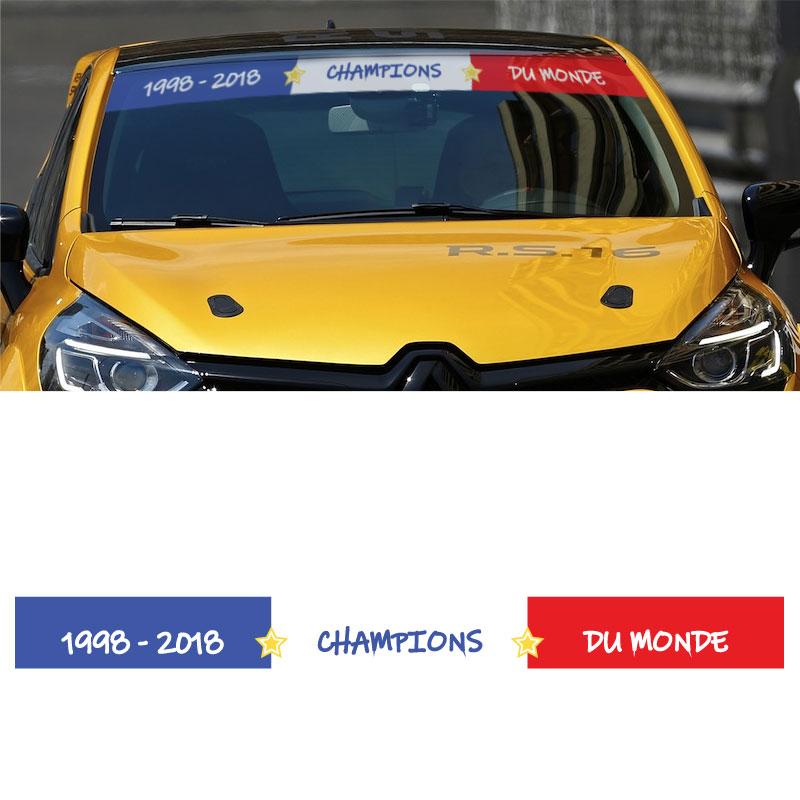Bande Aufkleber Pare Sonne Flag France Champions Du Monde (130 x 19 cm)