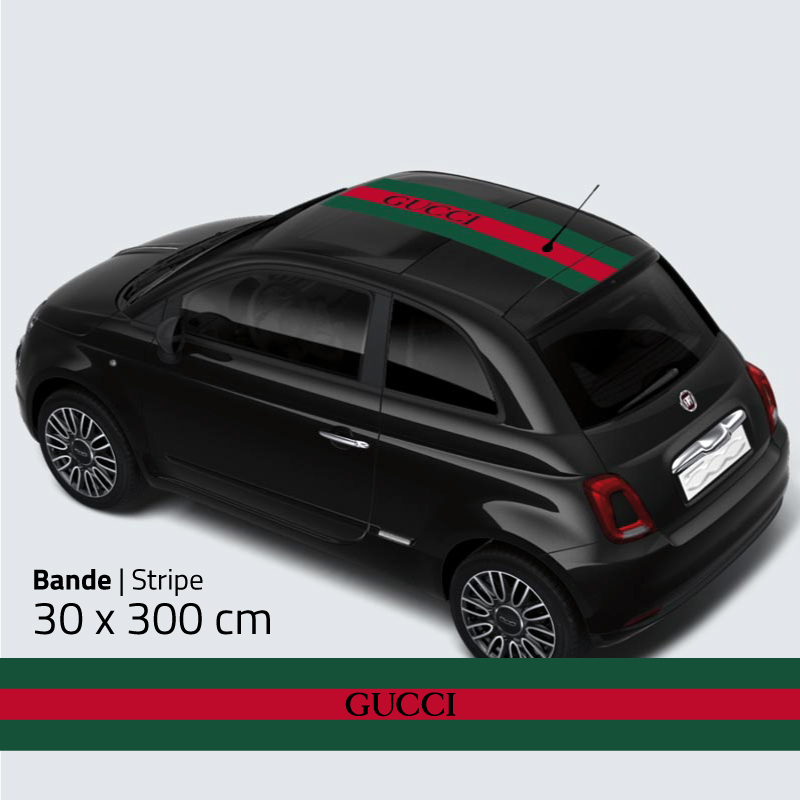 Fiat 500 Gucci Roof Sticker