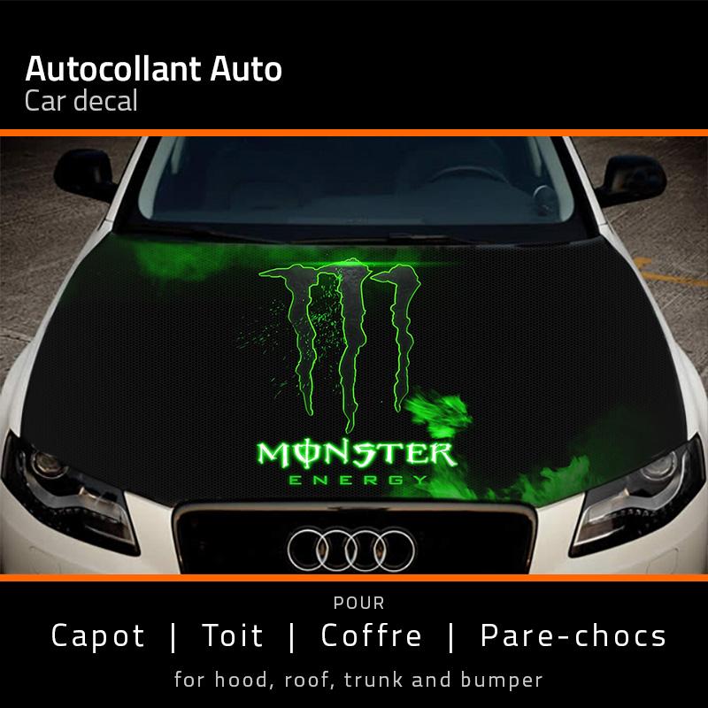 Autohaube Monster Energy Aufkleber