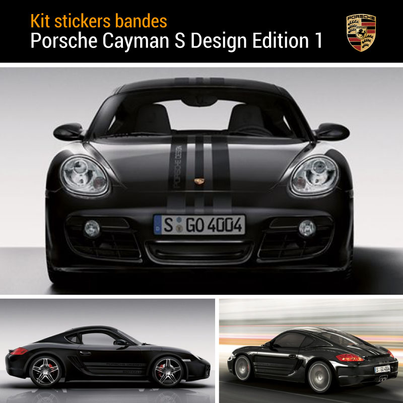 Porsche Cayman S Design Edition 1 Decals Set
