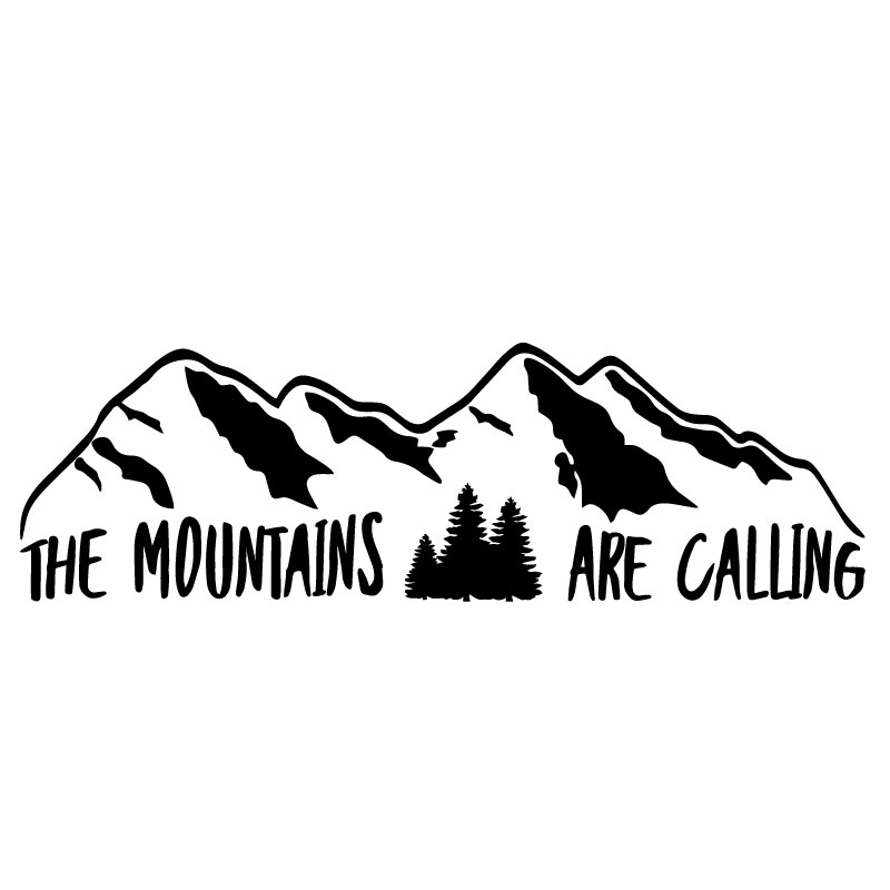 Aufkleber The Mountains Are Calling