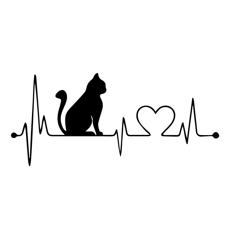 Aufkleber JDM I Love Cats