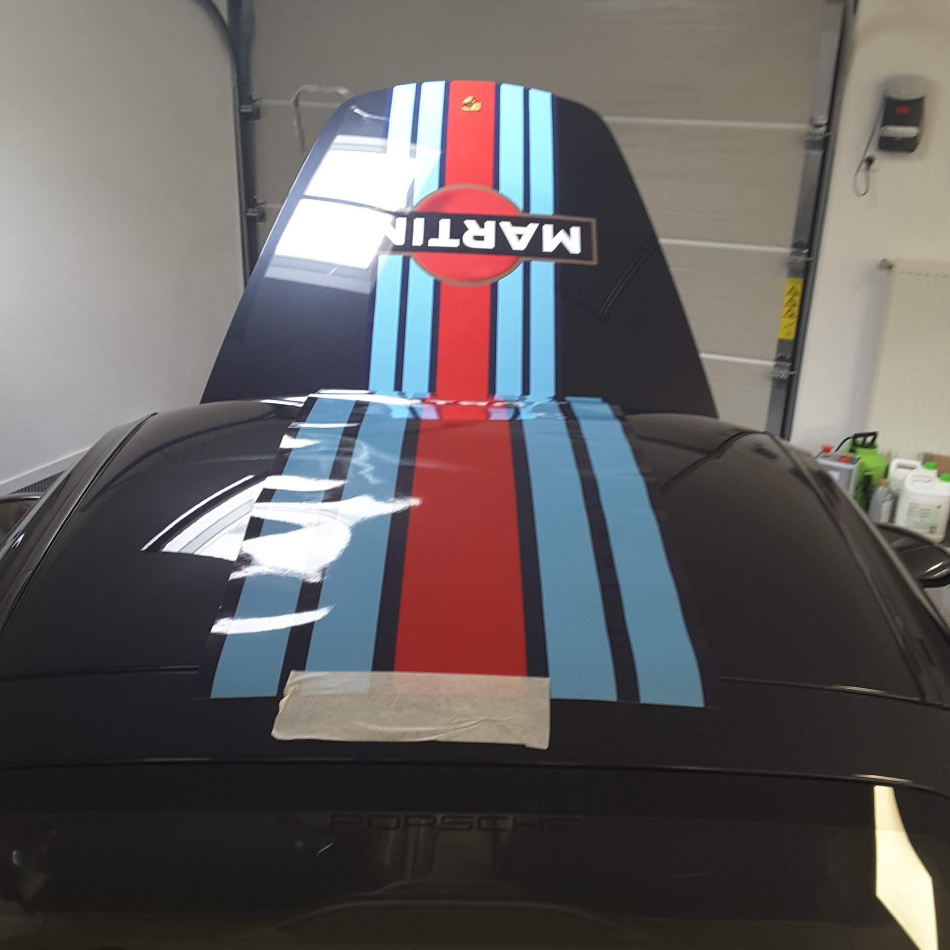 Porsche 911 Martini Racing Stripes Decals Set