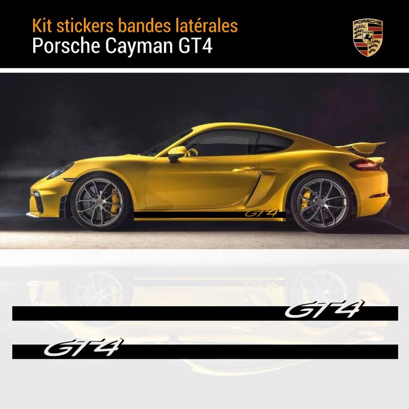 Car Side Stripes Decals Set Porsche Cayman GT4