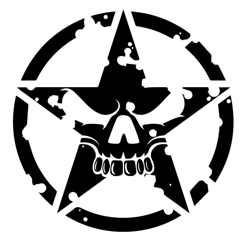 Autocollant D/écalcomanie Muraux Voiture Moto Casque Campeur Portable Scooter Cr/âne Army Punisher Militaire Skull /Étoile erreinge Sticker PR/ÉD/ÉCOUP/É Noir 12cm