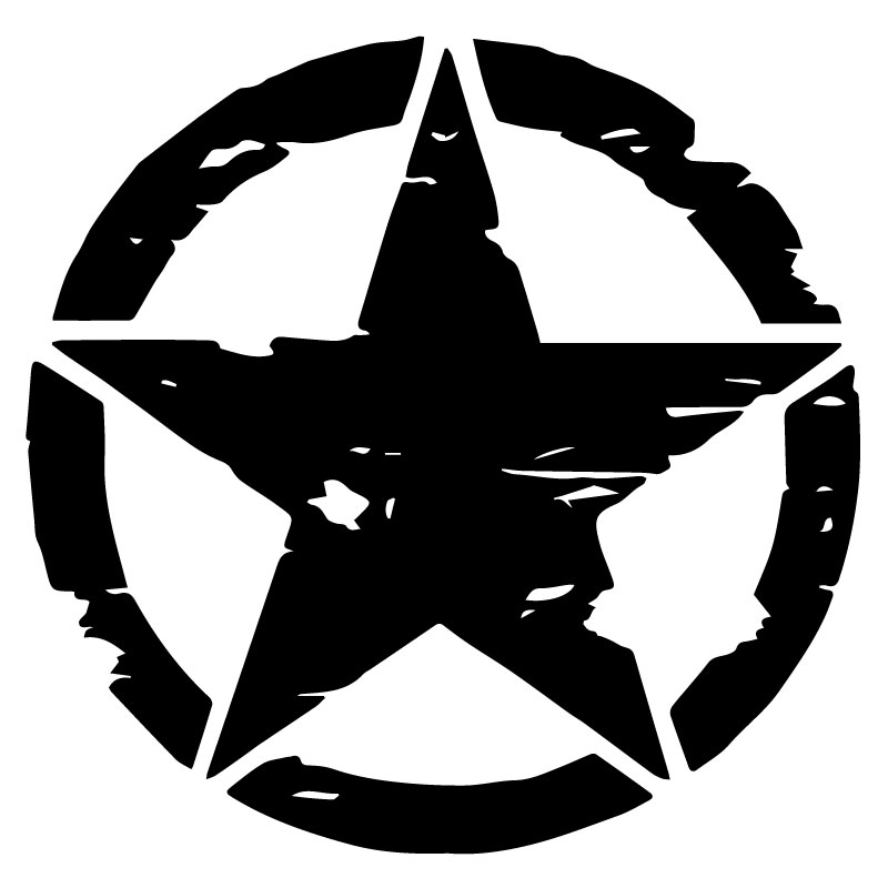 US ARMY STAR Veteran Decal