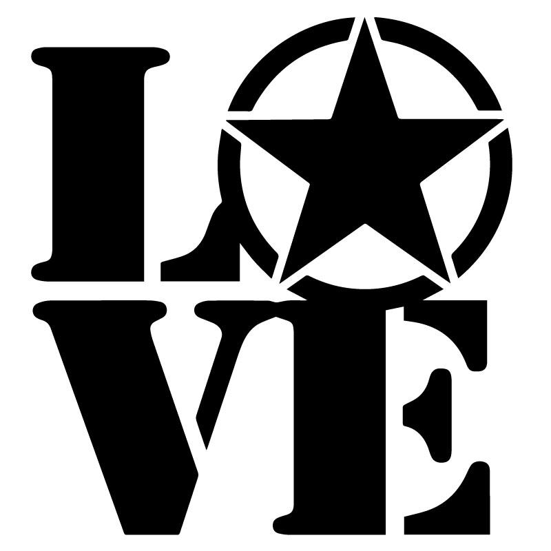 Sticker Étoile US ARMY Star LOVE