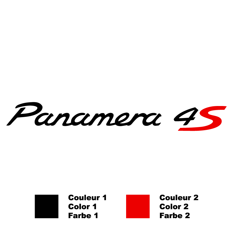 Sticker Porsche Panamera 4S Bicolore