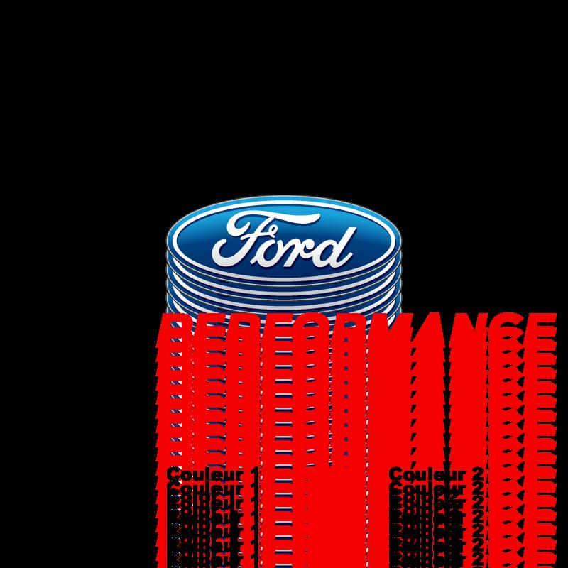 Sticker Ford Performance Bicolore