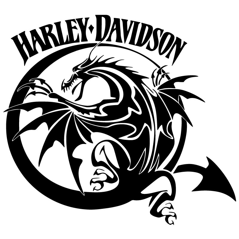 Sticker Harley Davidson Dragon ★