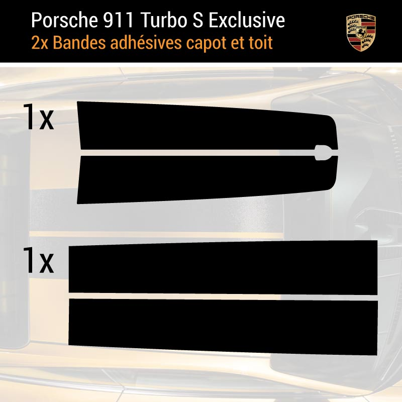 Kit Stickers Bandes Porsche 911 Turbo S Exclusive